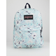 JANSPORT Black Label SuperBreak Blue Sketch Floral Backpack