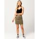 REWASH Seamed Twill Skirt