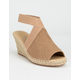 DELICIOUS Broom Wheat Womens Espadrille Wedges