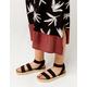 YOKI Chiara Black Womens Espadrille Flatform Sandals