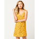 SKY AND SPARROW Button Front Floral Dress