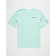 CHAMPION Embroidered Script Logo Mint Mens Pocket Tee