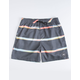 QUIKILVER Dunes Dark Gray Mens Volley Shorts