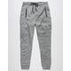 BURNSIDE Zip Pocket Heather Grey Mens Jogger Pants
