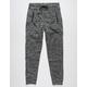 BURNSIDE Zip Pocket Heather Black Mens Jogger Pants