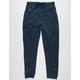 BURNSIDE Zip Pocket Heather Navy Mens Jogger Pants
