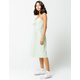 SKY AND SPARROW Knot Button Front Sage Midi Dress