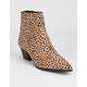 QUPID Point Toe Leopard Womens Booties