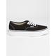 VANS Authentic Platform 2.0 Black Womens Shoes