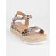 SODA Clip Espadrille Snake Womens Platform Sandals