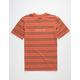 BRIXTON Hilt II Rust Stripe Mens T-Shirt