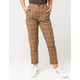 SKY AND SPARROW Plaid Womens Trouser Pants