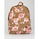 ROXY Sugar Baby Canvas Tan Backpack