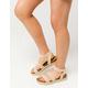 YOKI Chiara Beige Womens Espadrille Flatform Sandals