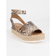 SODA Topic Snake Womens Espadrille Flatform Sandals