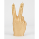 CANDELLANA Peace Hand Gold Candle