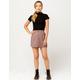 SKY AND SPARROW Plaid Mini Skirt