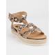 WILD DIVA Hanzel Snake Womens Espadrille Flatform Sandals