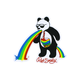 RIOT SOCIETY Puke Rainbow Panda Sticker