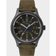 TIMEX MK1 Steel 40mm Leather Strap Gray & Green Watch