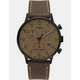 TIMEX Waterbury Classic Chronograph 40mm Leather Strap Black & Brown Watch
