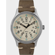 TIMEX MK1 Steel 40mm Leather Strap Silver-Tone Watch