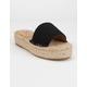 BEAST FASHION Tia Black Espadrille Flatform Sandals