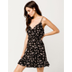 IVY & MAIN Floral Surplice Wrap Dress