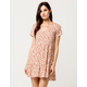 SKY AND SPARROW Ditsy Floral Babydoll Dress