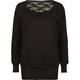 FULL TILT Lace Back Womens Sweatshirt