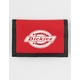 DICKIES Washed Nylon Red Trifold Wallet