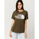 THE NORTH FACE Half Dome Dark Olive Womens Tee