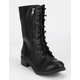SODA Lace Up Black Womens Combat Boots