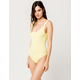 FULL TILT Ribbed Tank Neon Yellow Bodysuit