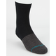 STANCE 3 Pack Black Boys Crew Socks