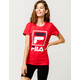 FILA Stacked Red Womens Tee