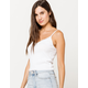 DESTINED Lace Trim White Womens Cami