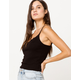 DESTINED Lace Trim Black Womens Cami