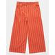 FULL TILT Stripe Crop Coral & White Girls Palazzo Pants