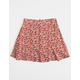 WHITE FAWN Ditsy Rust Girls Skater Skirt