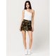 SKY AND SPARROW Camo Mini Skirt