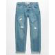 LEVI'S 502 Regular Taper Light Wash Boys Ripped Jeans
