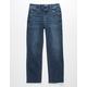 RSQ High Rise Straight Leg Dark Wash Girls Jeans