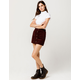 SKY AND SPARROW Button Front Corduroy Mini Skirt