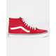 VANS Sk8-Hi Racing Red & True White Shoes