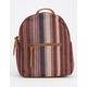 T-SHIRT & JEANS Stripe Burgundy Mini Backpack