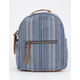 T-SHIRT & JEANS Stripe Blue Mini Backpack