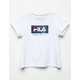 FILA Logo Box White Girls Tee