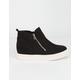 SODA Zip Platform Black Womens Shoes