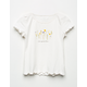WHITE FAWN Floral Girls Baby Tee